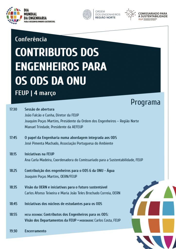 Conferência contributos dos Engenheiros para os ODS da ONU