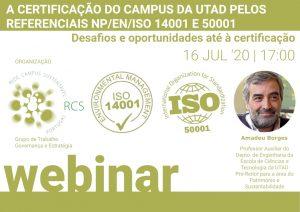 Webinar Amadeu Borges - UTAD - promovido pela RCS, Portugal