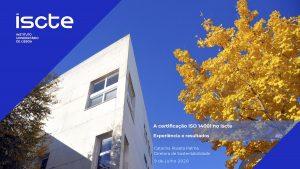 Webinar RCS Apresentação_SGA Iscte