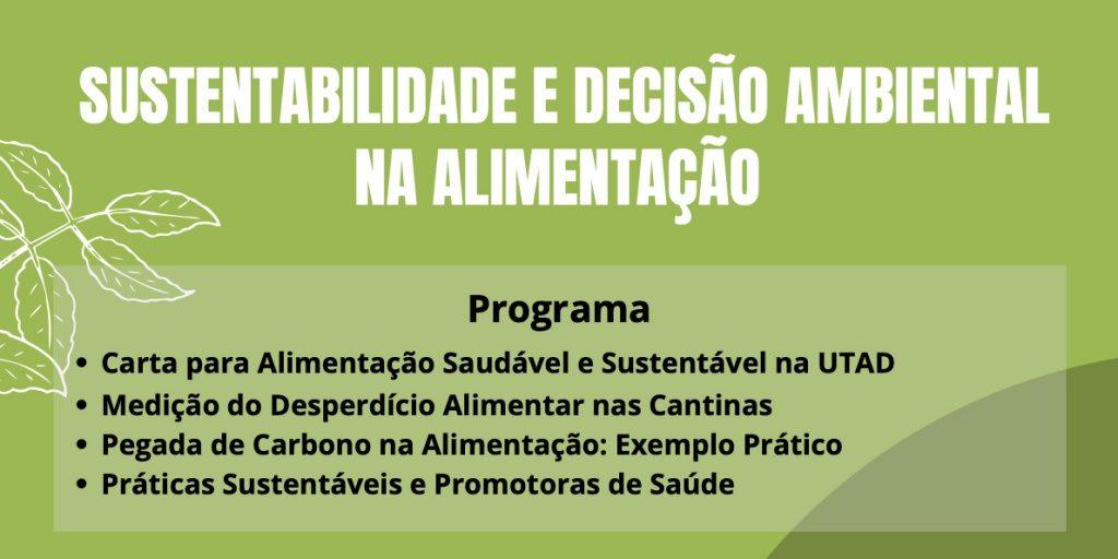 WEBINAR SUSTENTABILIDADE E DECISÃO AM BIENTAL NA ALIMENTACAO